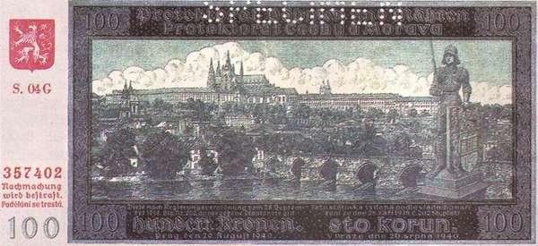 100 крон (Богемия, 1940 г.)