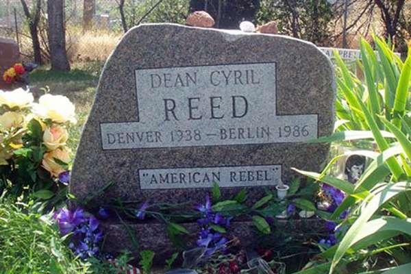 Могила Дина Рида на кладбище города Боулдер штата Колорадо