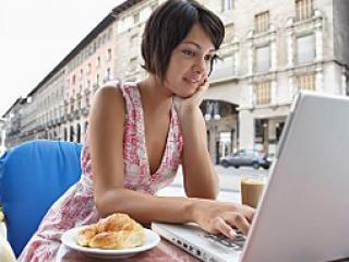 Девушка и интернет