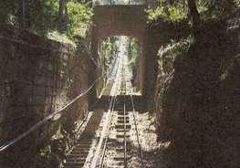 Железная дорога, по которой ходит электричка, доставляющая паломников к монастырю