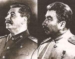 Слева - Сталин, справа - Феликс Дадаев