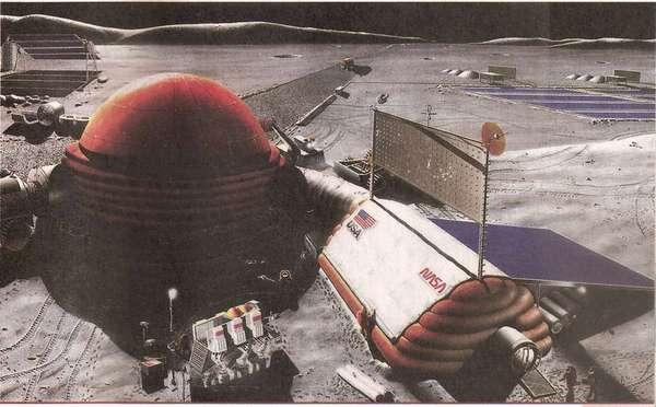 Космическая база на Луне
