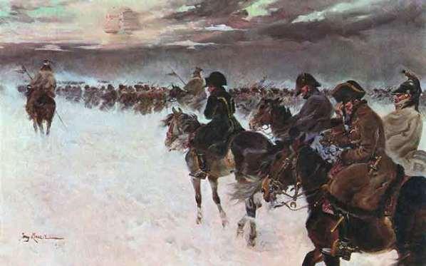 Отступление Наполеона из России. Ежи Коссак