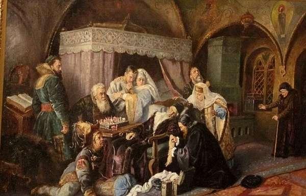 """Картина Маковского К.Е. """"Смерть Ивана Грозного"""", 1888 г."""