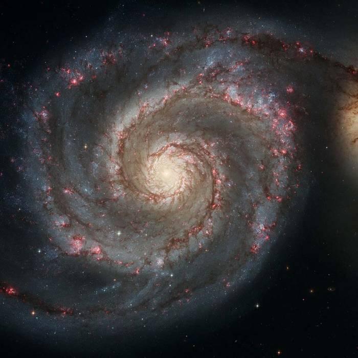 Спиральная галактика в созвездии Гончих Псов