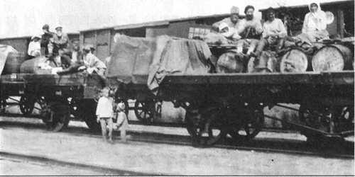 Тиф развозили по железной дороге