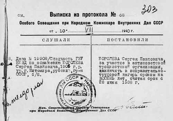 Выписка из протокола №68 от 10.07.1940 г.